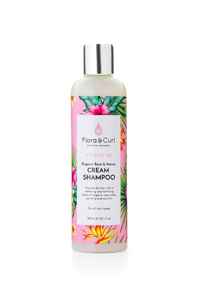 Flora & Curl Hydrate Me- Organic Rose & Honey Cream Shampoo Hair Popp UK black hair shop