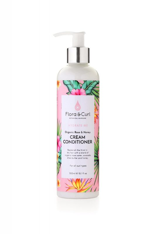 Flora Curl organic-rose-honey-cream-conditioner-floracurl Hair Popp UK Black hair shop