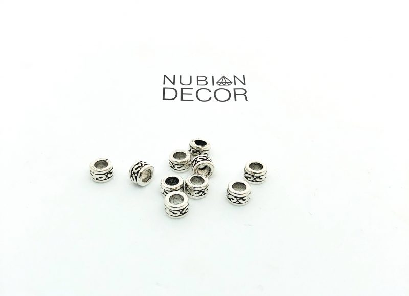 Nubian Decor Zane Silver Goddess Cuffs Hair Popp UK black hair shop